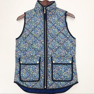 J Crew Excursion vest in Liberty Catesby floral